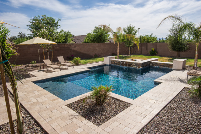 Geometric 3 lavish pools for Pool design az